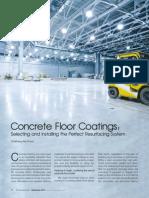 Article on 'Concrete Floor Coatings' by Chaitanya Raj Goyal