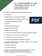 Cuestionario de Evaluación de Psicoterapia de Análisis Transaccional -ALAT-Anexo 10- por el  Dr. Ckrishnashi Samayoa Barraza