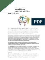Contenidos Del Curso Epistemologia de La Educacion
