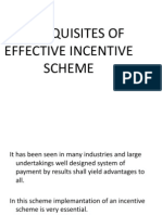 Prerequisites of Effective Incentive Scheme