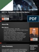 Presentation_1712_AB1712_Schedules - Beyond the Basics - Presentation