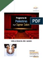 Portfólio de Palestras - Profº Sigmar Sabin 2013 - Detalhado