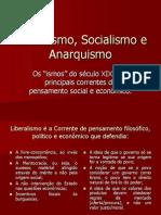 Liberalismo, Socialismo e Anarquismo