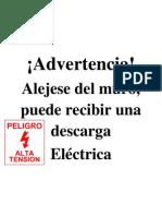 Advertencia descarga electrica