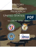 Army Operations Research History