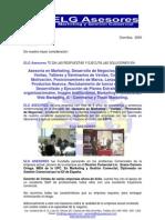 Carta de Presentación  ELG Asesores Perú 2009
