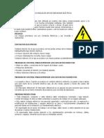 CINCO REGLAS DE ORO DE SEGURIDAD ELÉCTRICA