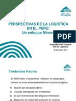 20101201-PUCP - Perspectivas de La Logistica en El Peru- JMartinez - 25 Nov 2010