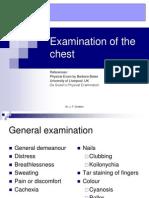 Examination of Chest