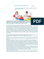 El desarrollo de la dimensión cognitiva en las instituciones educativas