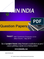 SSC CGL Question Paper2012