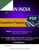 SSC CGL Question Paper2012