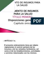Expo Reglamento de Insumos Para La Salud Administracion