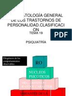 FISIOPATOLOGÍA GENERAL DE LOS TRASTORNOS DE PERSONALIDAD
