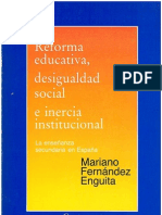 36323448 Reforma Educativa Desigualdad Social e Inercia Institucional