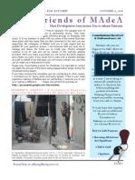 MAdeA Dar es Salaam Newsletter 2008 - Kim Kitchen
