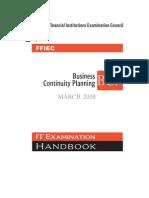 FFIEC_ITBooklet_BusinessContinuityPlanning