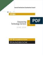 FFIEC_ITBooklet_OutsourcingTechnologyServices