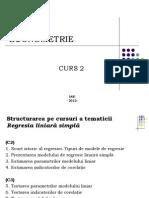 Curs 2. Econometrie