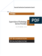 FFIEC IT Booklet Supervision of Technology Service Providers (TSP)