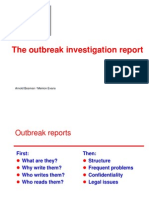 20- Outbreak Investigation Report