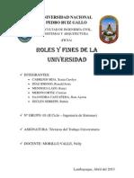 Roles y Fines de La Universidad