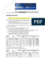 Evaluation Des Stocks
