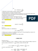 Controle Intermediaire Printemps 2011 Math II Analyse Correction