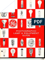 GE Photographic Lamp Guide 1968