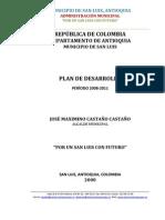 Plan de Desarrollo San Luis 2008 2011