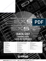 Yamaha EX5 EX7 E2 Data List