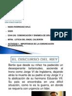 ACTIVIDAD 1 IMPORTANCIA DE LA COMUNICACIÓN INTERPERSONAL