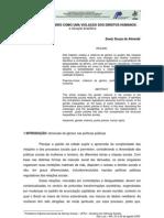 VIolência de gênero como violação aos direitos humanos - Suely_Sousa_Almeida