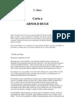 Karl Marx - Carta a Arnold Ruge