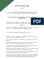 Decreto 1809 de 1990