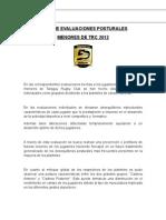 Informe Evaluaciones Posturales