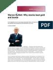 Why Stock Beat Gold & Bonds-Buffett