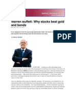 Why Stock Beat Gold & Bonds-Buffett