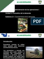 2.1 Caracteristicas de La Demanda 2012