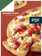 Boston Pizza Menu