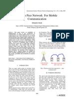 Mobile Peer to Peer Communication