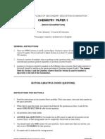 HKDSE Chem FX Mock Exam Paper 1 2012 Set 1 Eng