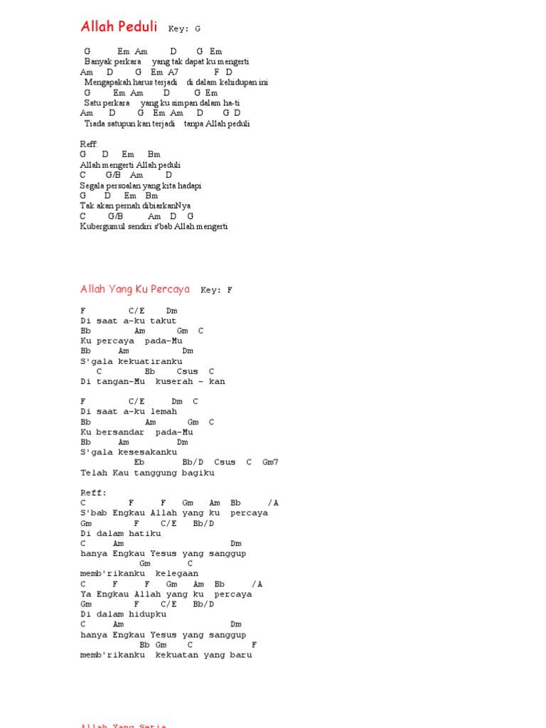 lirik lagu rohani tuhan penebusku