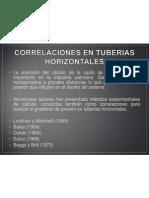 Correlaciones en Tuberias Horizontales