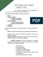 Proyecto Final Del Curso HTML y Css