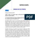 Comunicado Chileno Informe Mundial 2013