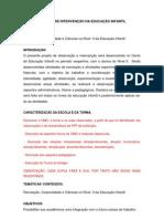PROJETO DE INTERVENÇÃO NA EDUCAÇÃO INFANTIL p