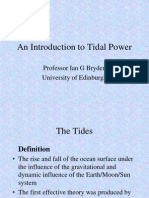 Introduction to Tidal Power