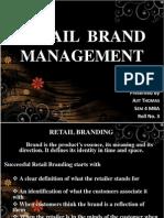 Retail Brand Management
