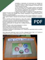 O Estágio Supervisionado I possibilitou a observação do funcionamento da Instituição de Educação Infantil p